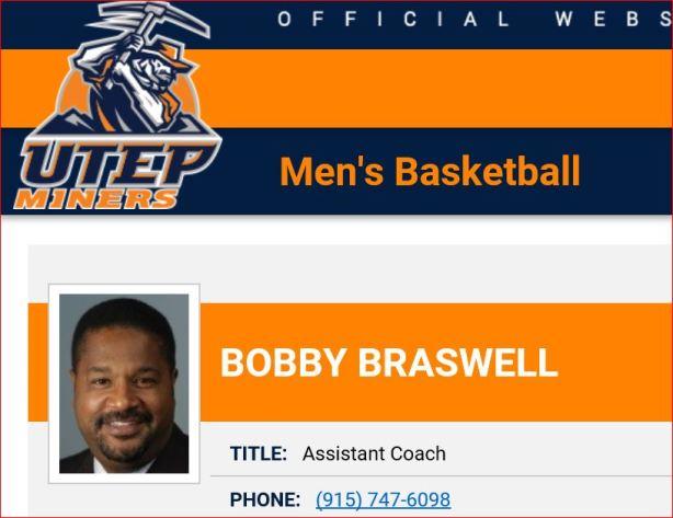bobbie braswell Utep